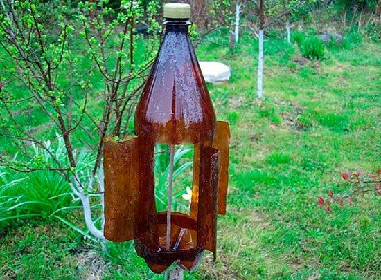 Отпугиватель из пластиковых бутылок