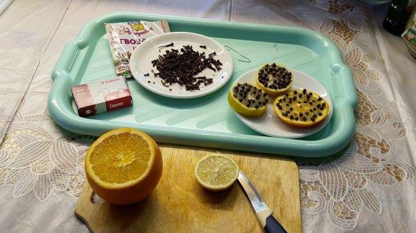 Гвоздика с лимоном