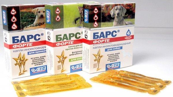 Барс для собак от блох и клещей
