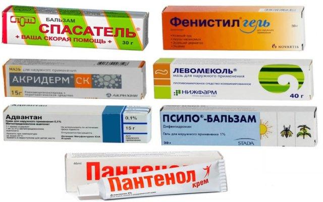 Препараты при укусе комаров