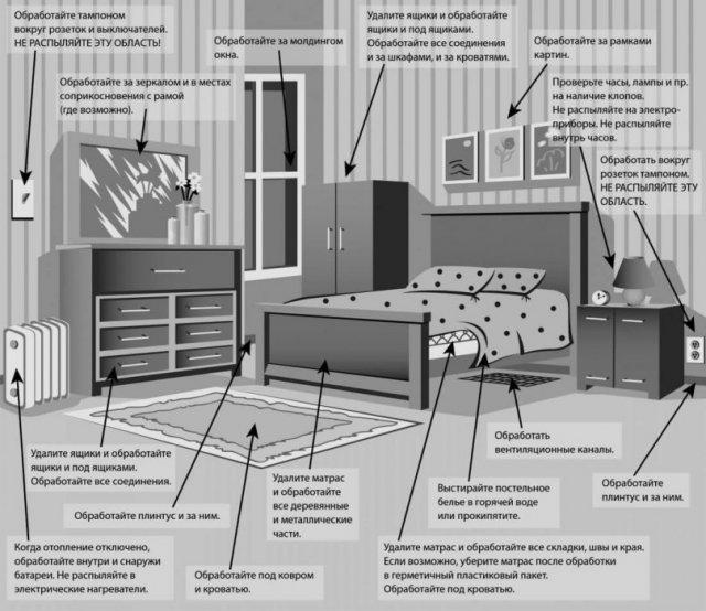 Обработка жилья от вредителей